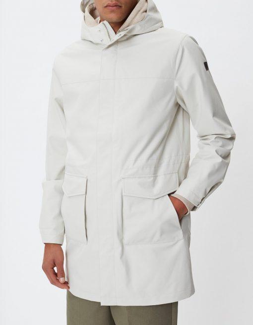 Les Deux Damien Summer Parka Coat Ivory