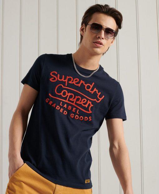 Superdry Workwear Graphic T-shirt Nautical Navy