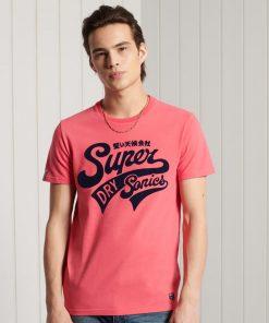 Superdry Collegiate Graphic T-shirt Future Fuchsia