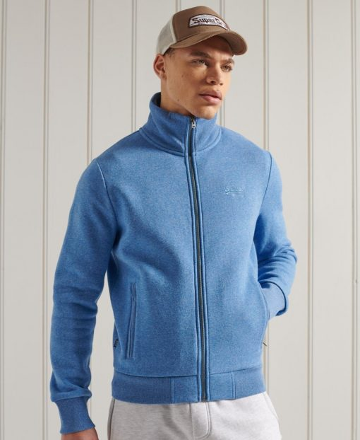 Superdry Classic Track Top Bright Blue Grit