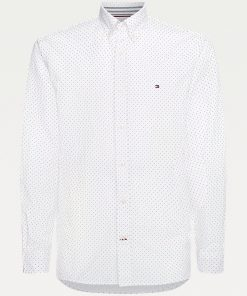 Tommy Hilfiger Micro Dot Oxford Shirt White