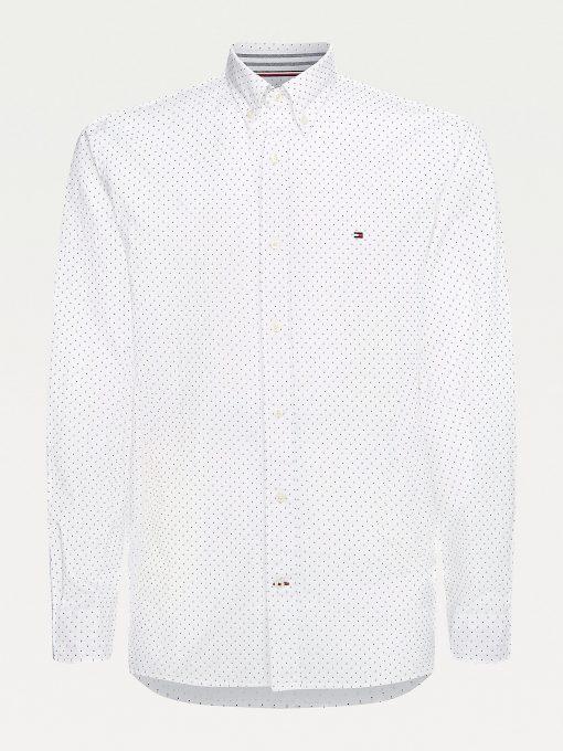 Tommy Hilfiger Micro Dot Oxford Shirt White