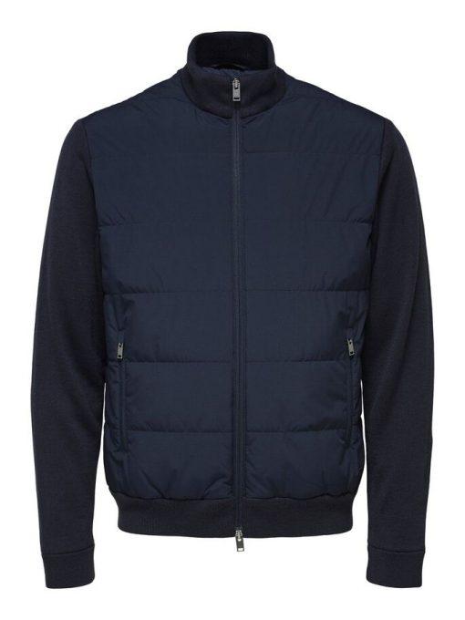 Selected Homme Knit Hybrid Jacket Dark Blue