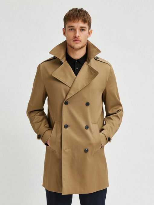 Selected Homme Sander Coat Petrified Oak