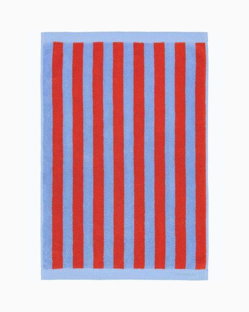 Marimekko Kaksi Raitaa hand towel 50 x 70 cm Blue