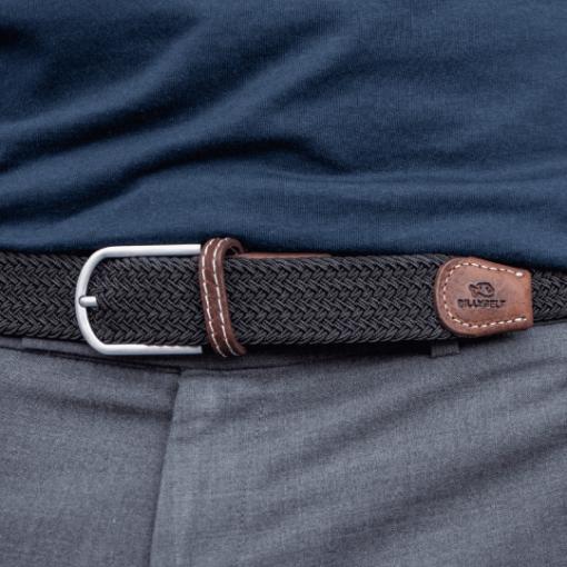 Billybelt Elastic Woven Belt Liqourice Black
