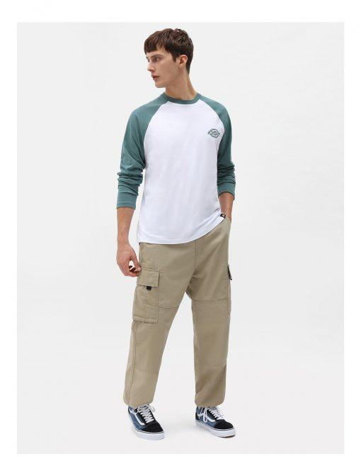 Dickies Cologne Long Sleeve Baseball T-shirt Green