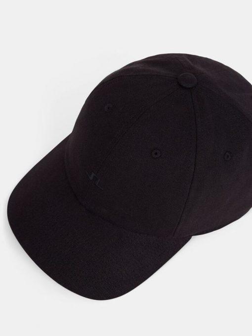 J.Lindeberg Elijah Linen Cap Black