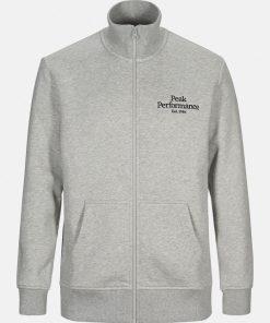 Peak Performance Original Zip Jacket Men Medium Grey Melange