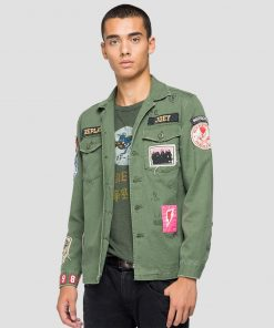 Replay Tour 1982 Cotton jacket Light Military