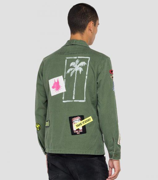 Replay Tour 1982 Cotton jacket Light Military