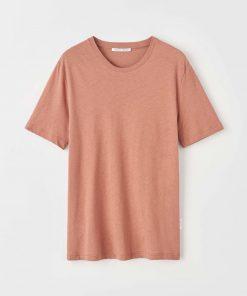 Tiger of Sweden Olaf Cotton/Linen T-shirt Brick