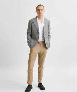 Selected Homme Linen Blazer Grey