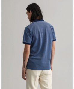 Gant 4-Color Oxford Piqué Rugger Shirt Persian Blue