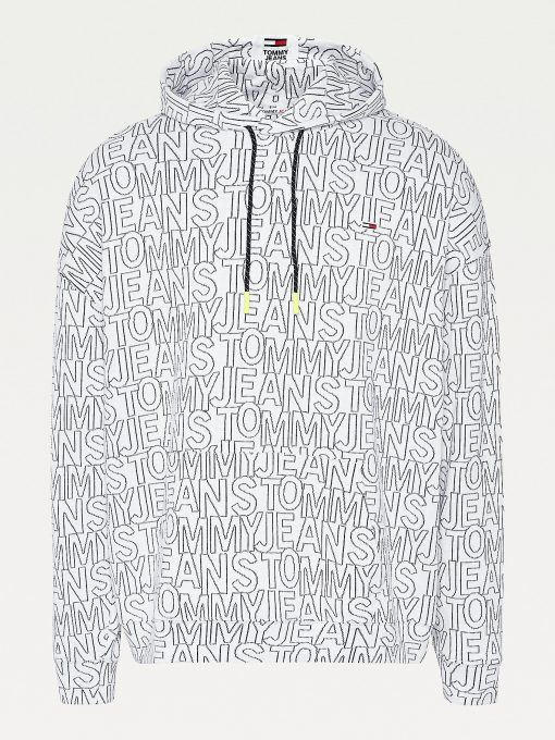 Tommy Jeans Tommy Aop Hoodie White