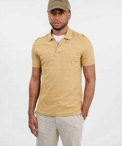 J.Lindeberg Troy Cotton Polo Shirt Sandcastle