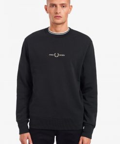 Fred Perry Embroidered Sweatshirt Black