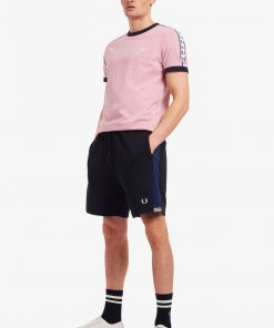 Fred Perry Taped Ringer T-Shirt Chalky Print