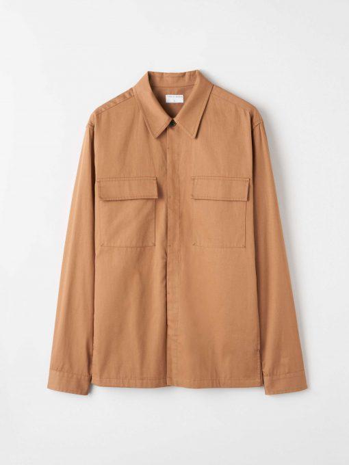 Tiger of Sweden Bergen Shirt Jacket Tobacco Brown