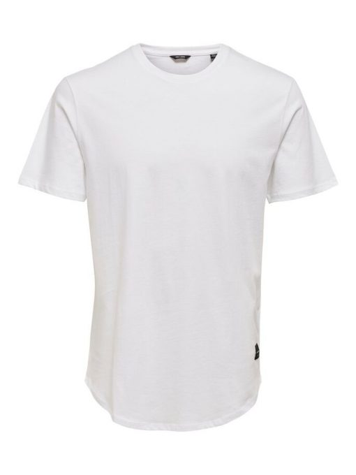 Only & Sons Matt Longy T-shirt White