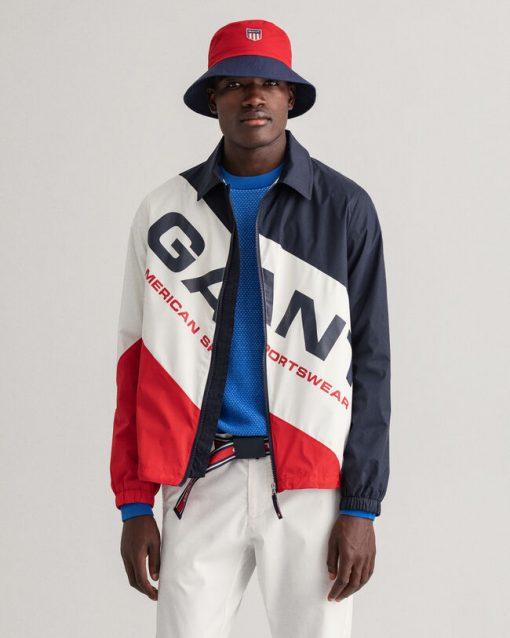 Gant Nylon Windcheater Jacket Evening Blue