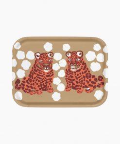 Marimekko Kaksoset Tray 27 x 20 cm Brown