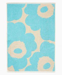 Marimekko Unikko Hand Towel 70 x 150 cm Light Blue