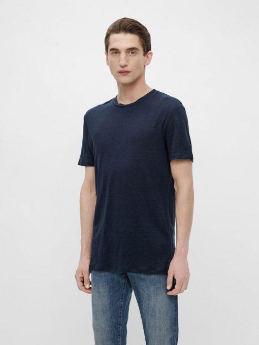 J.Lindeberg Coma Linen T-shirt Navy
