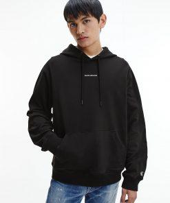 Calvin Klein Micro Branding Hoodie Black