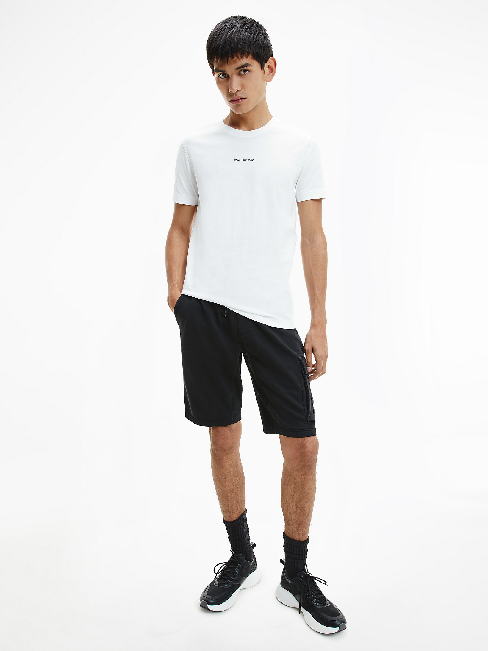 Calvin Klein Micro Branding T-shirt Bright White