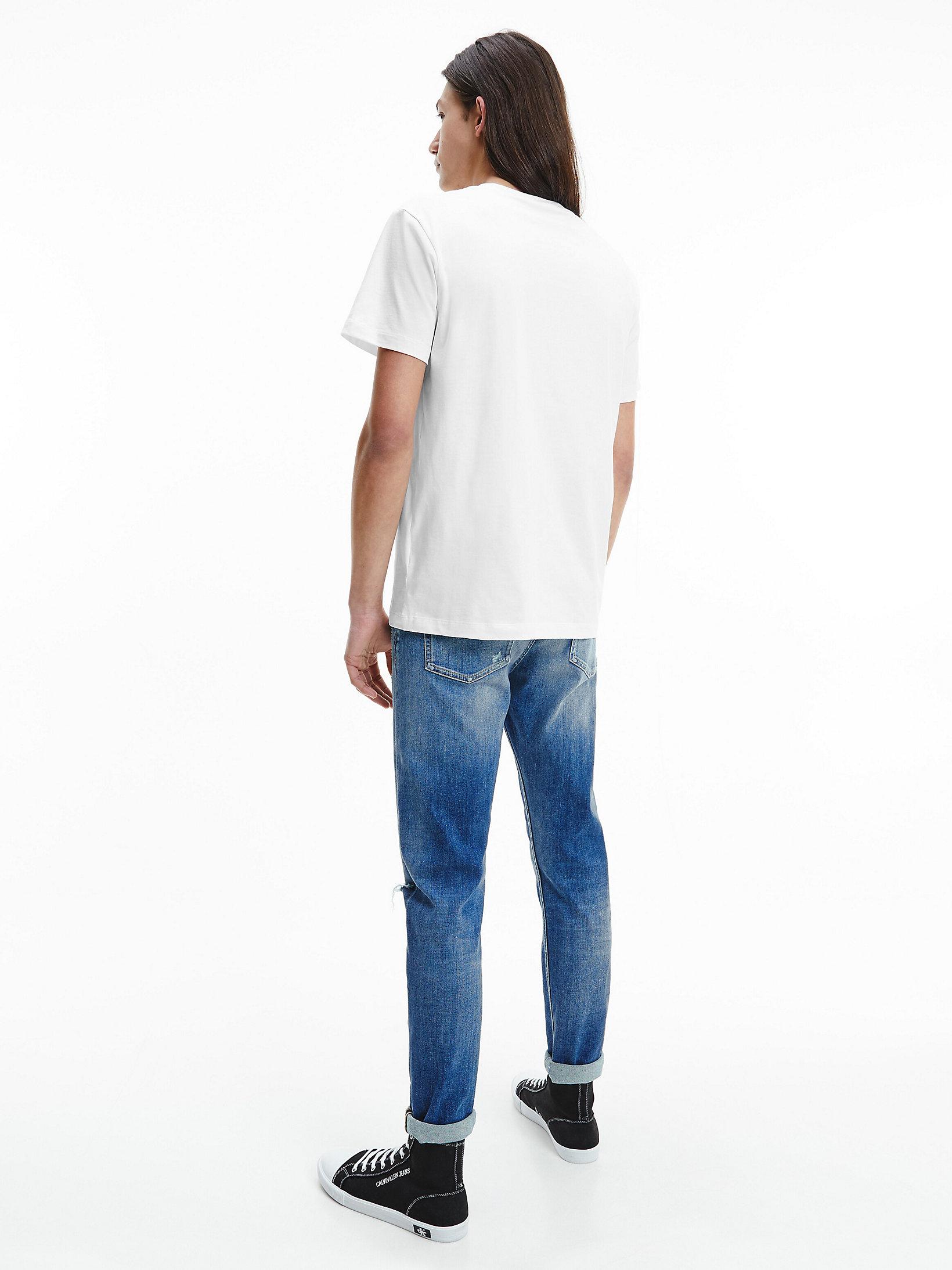 Calvin Klein Blocking Logo Tee Bright White