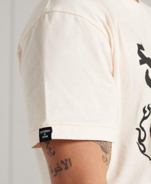 Superdry Boho Rock Graphic T-Shirt Cream Quartz