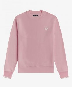 Fred Perry Crew Neck Sweatshirt Chalky Pink