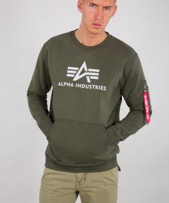 Alpha Industries 3D Logo Sweater Dark Olive