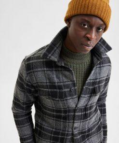 Selected Homme Lumberjack Jacket Grey