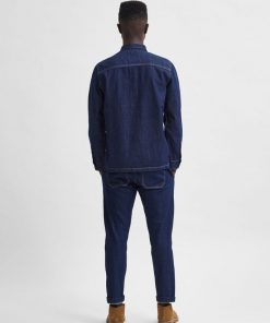 Selected Homme Denim Overshirt Medium Blue
