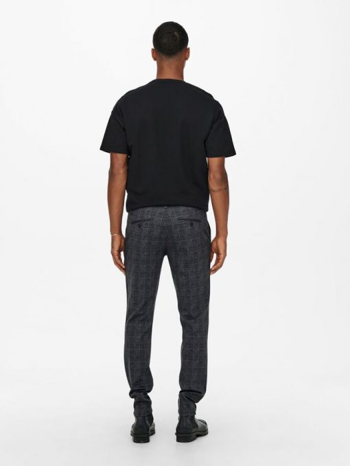 Only & Sons Mark Check Pants Black/Grey