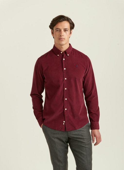 Morris Stockholm Douglas Corduroy Shirt Wine