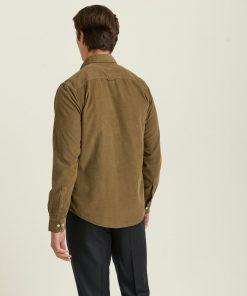 Morris Stockholm Douglas Corduroy Shirt Olive