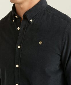 Morris Stockholm Douglas Corduroy Shirt Black