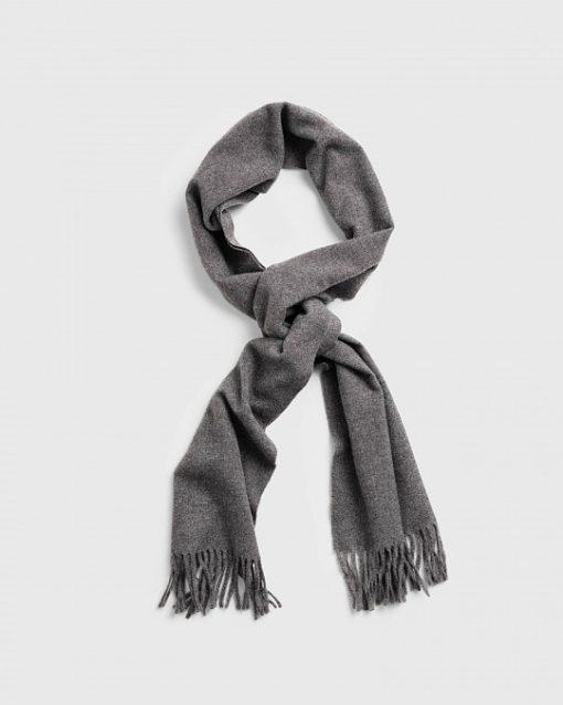Gant Solid Wool Scarf Charcoal Melange