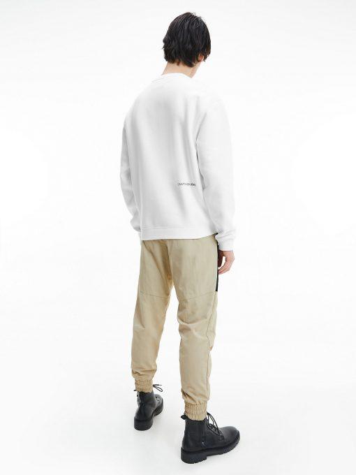 Calvin Klein Organic Cotton Logo Sweatshirt White