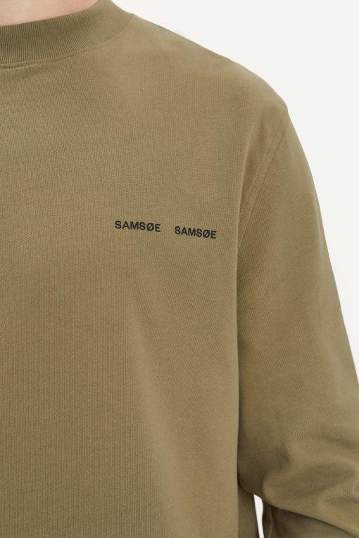 Samsoe & Samsoe Norsbro T-shirt Ls Covert Green