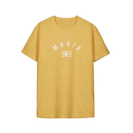 Makia Brand T-shirt Ochre