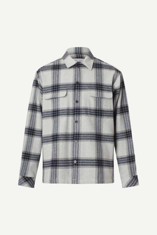 Samsoe & Samsoe Castor Shirt Grey Melange Check