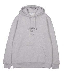 Makia Folke Hooded Sweatshirt Light Grey