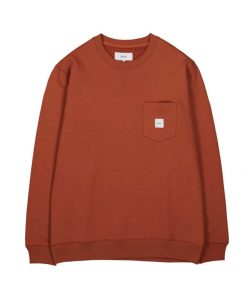 Makia Square Pocket Sweatshirt Copper