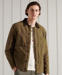 Superdry Utility Mix Over Shirt Duck Wax