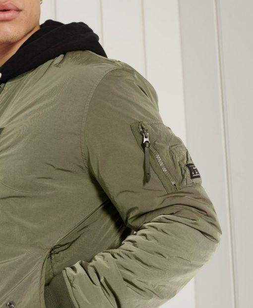 Superdry Military Bomber Jacket Khaki