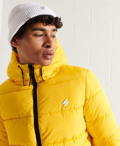 Superdry Hooded Sports Puffer Jacket Nautical Yellow